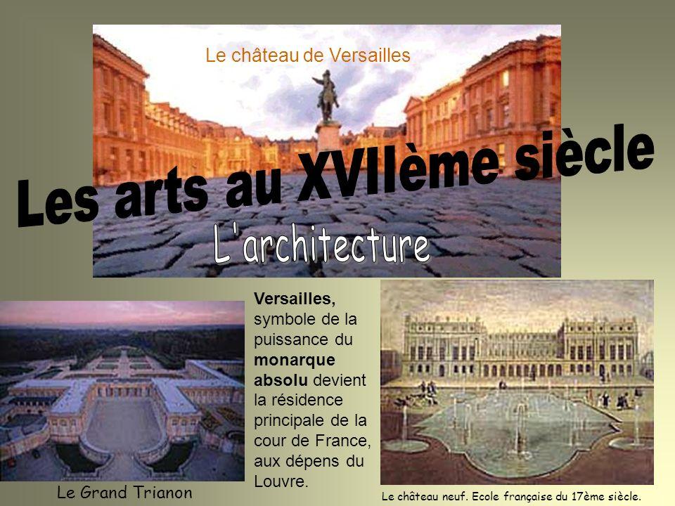 Le Grand Trianon Le château neuf. Ecole française du 17ème siècle. Le château de Versailles Versailles, symbole de la puissance du monarque absolu dev