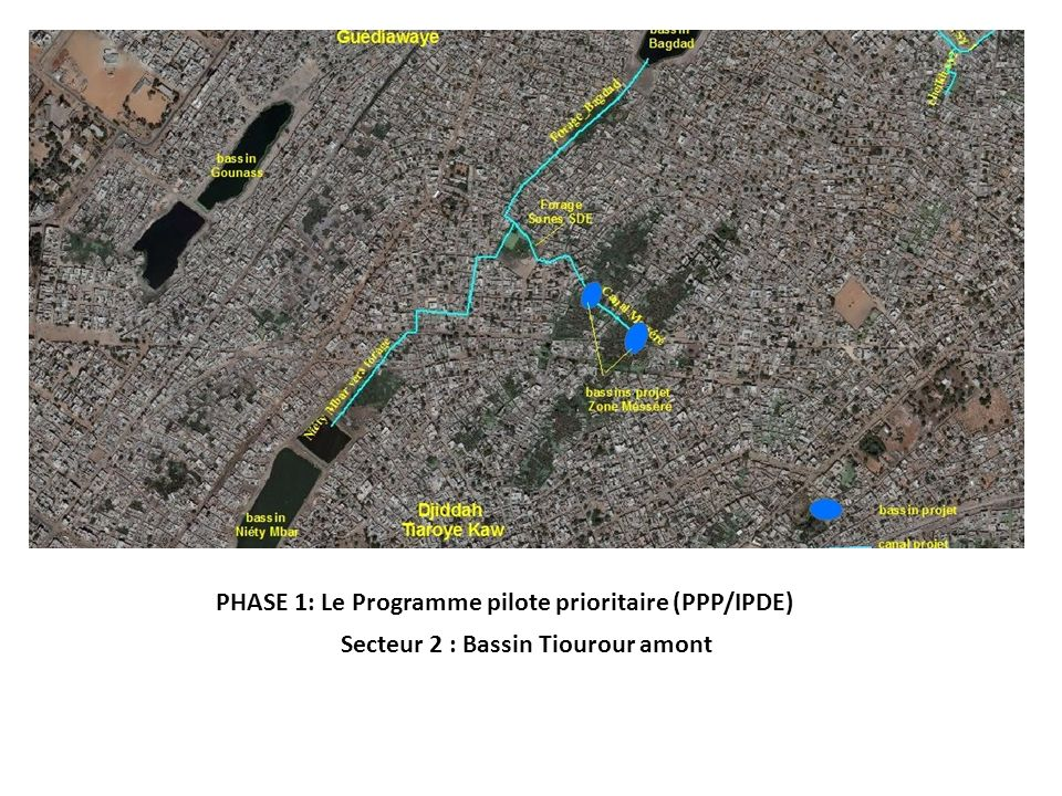 PHASE 1: Le Programme pilote prioritaire (PPP/IPDE) Secteur 2 : Bassin Tiourour amont