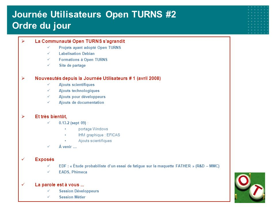 Et très bientôt : Open TURNS / Windows Cross compilation Pourquoi .