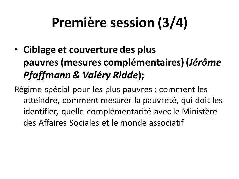 Première session (3/4) Ciblage et couverture des plus pauvres (mesures complémentaires) (Jérôme Pfaffmann & Valéry Ridde); Régime spécial pour les plu