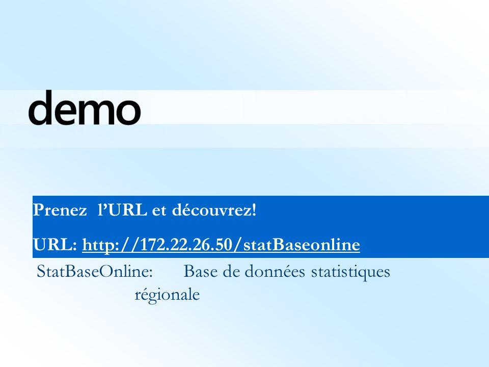 StatBaseOnline:Base de données statistiques régionale Prenez lURL et découvrez.