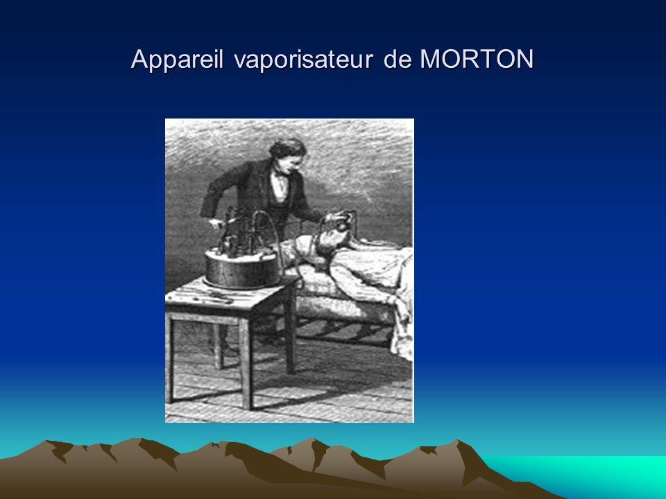 Appareil vaporisateur de MORTON