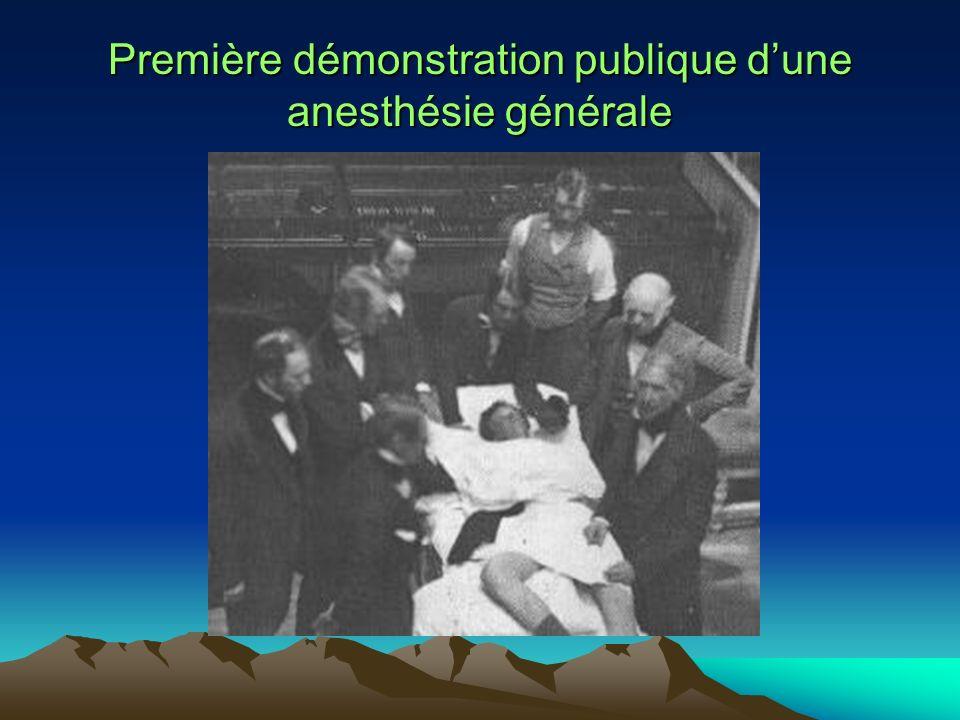 Première démonstration publique dune anesthésie générale