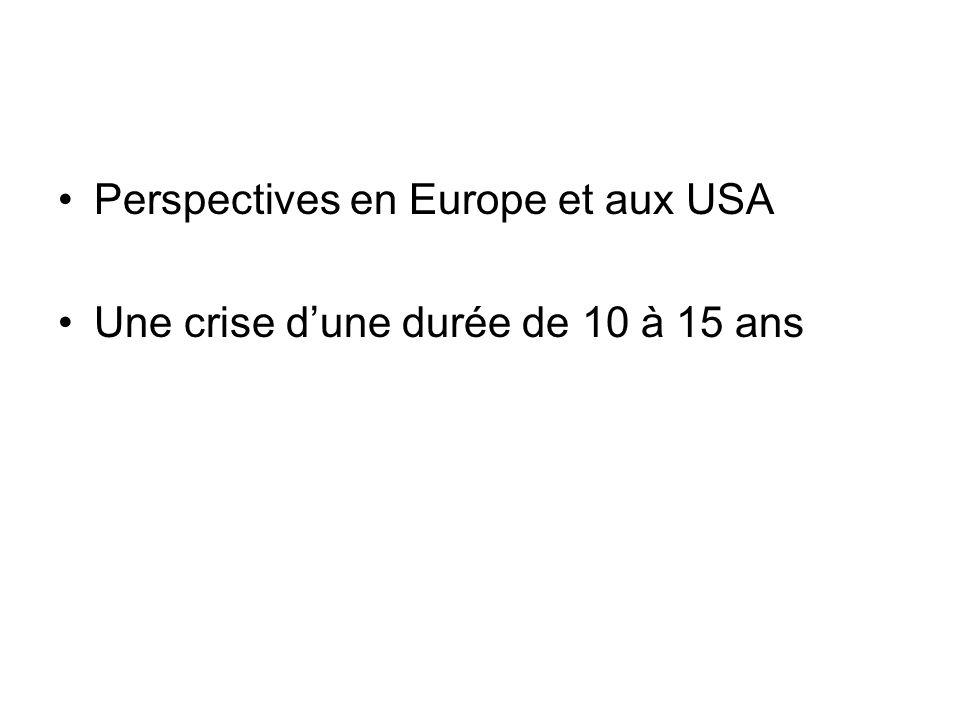 Perspectives en Europe et aux USA Une crise dune durée de 10 à 15 ans
