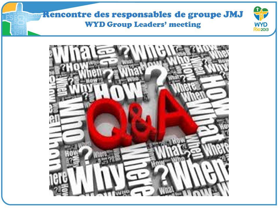 Rencontre des responsables de groupe JMJ WYD Group Leaders meeting