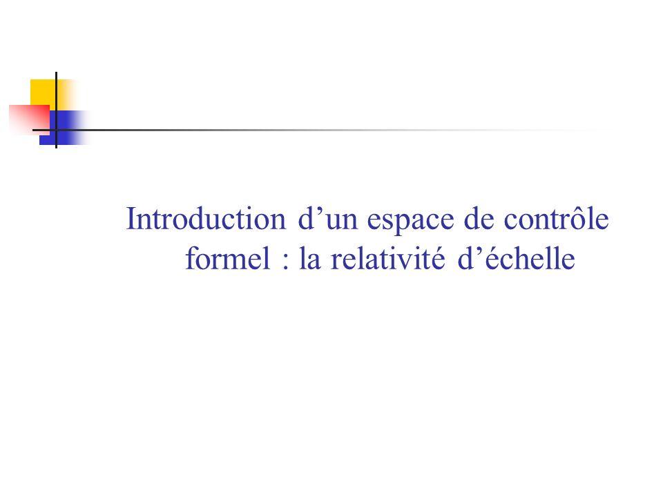 Introduction dun espace de contrôle formel : la relativité déchelle