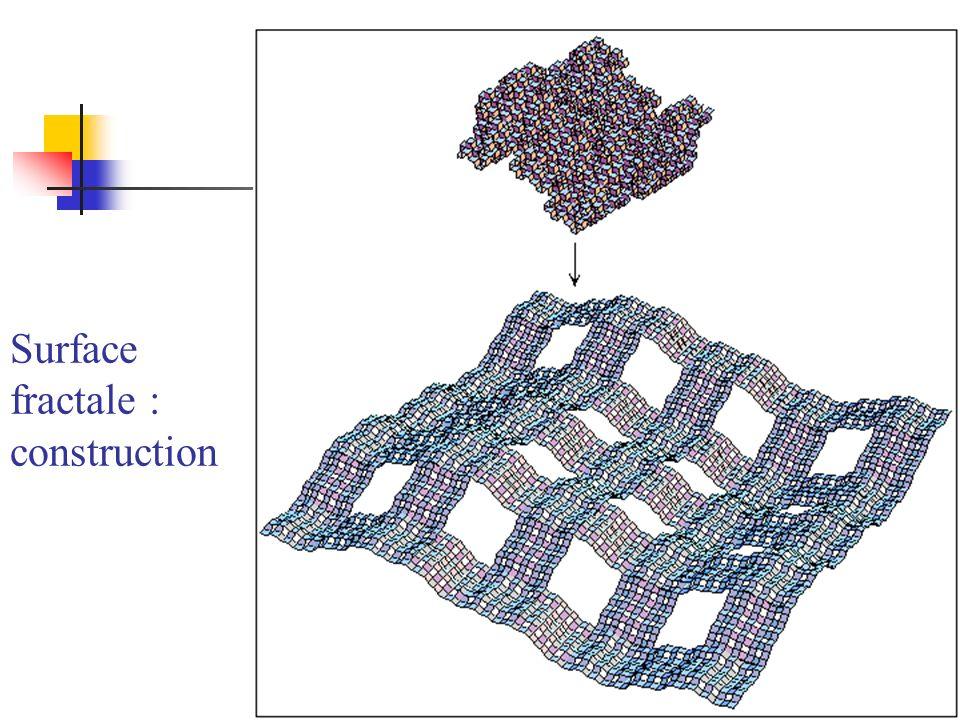 Surface fractale : construction