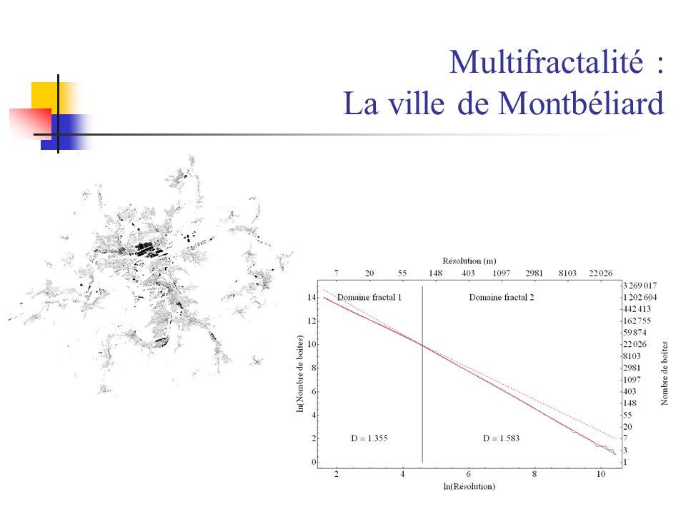 Multifractalité : La ville de Montbéliard
