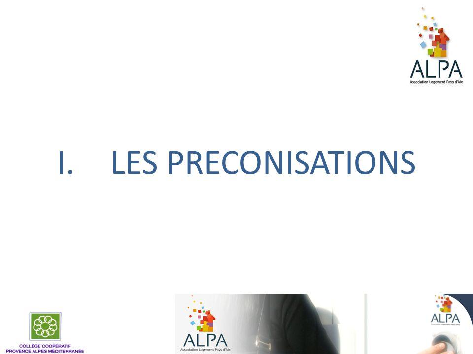 I.LES PRECONISATIONS