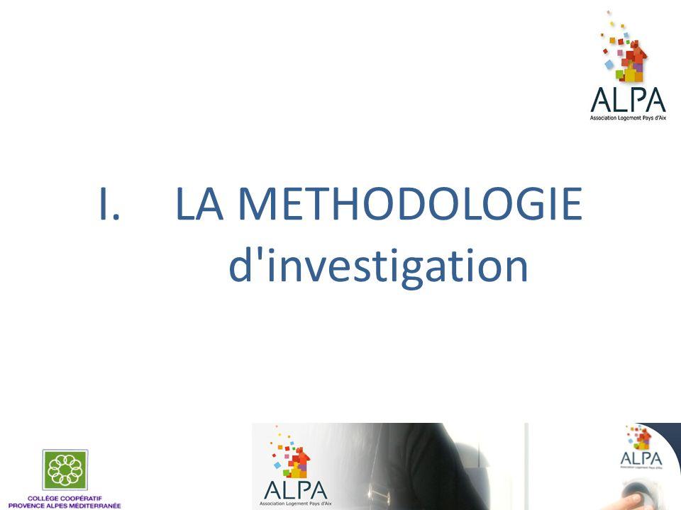 Méthode dinvestigation à lALPA Rencontres avec tous les salariés Objectifs : Compréhension du contexte - des missions - des mesures - des modes daccompagnement Participation de l Equipe Alpa à la co construction