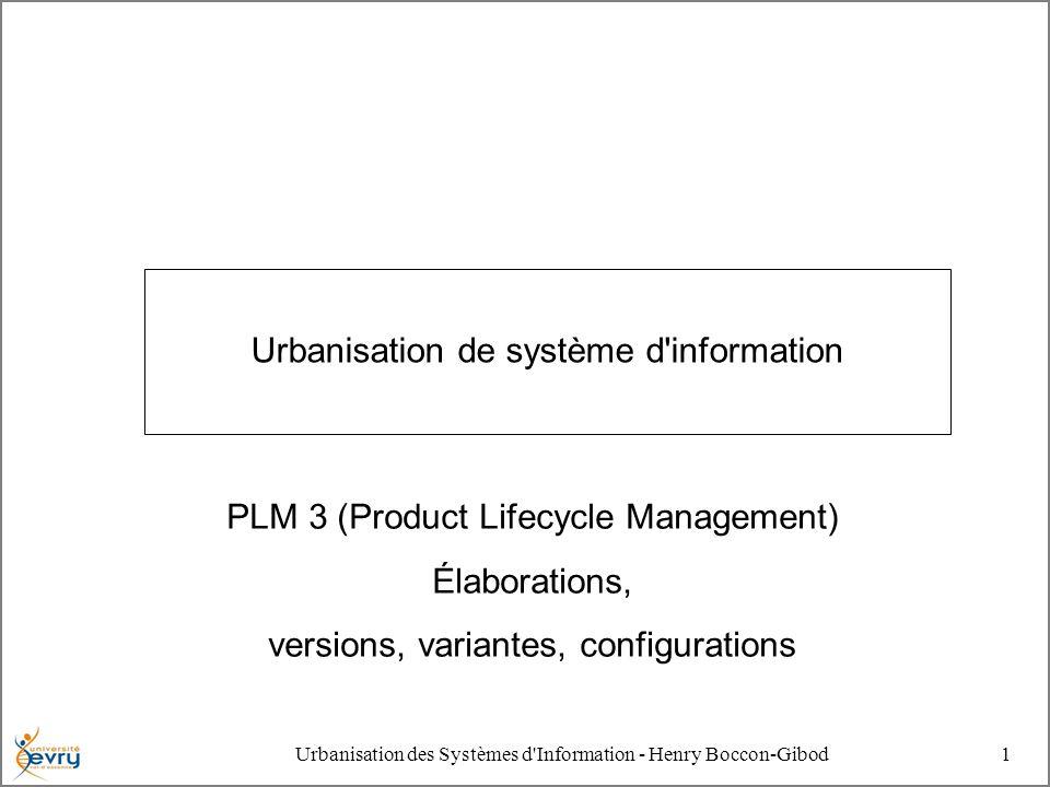 2 Urbanisation des Systèmes d Information - Henry Boccon- Gibod Mise en gestes L existence de tout produit, et de tout service commence par une phase abstraite de spécification avant une phase concrète de réalisation.
