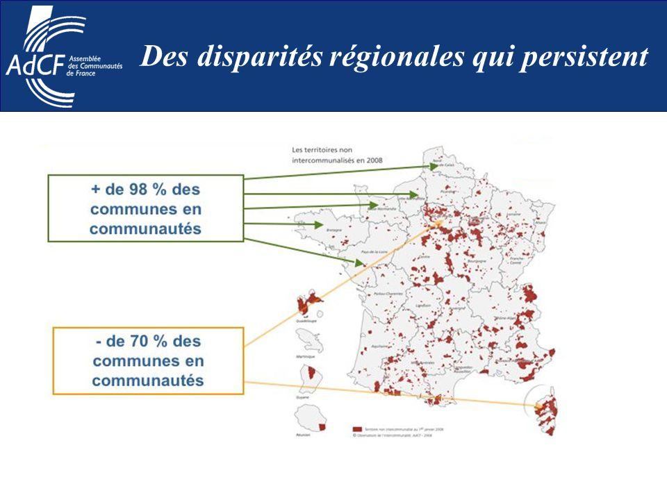 Des disparités régionales qui persistent