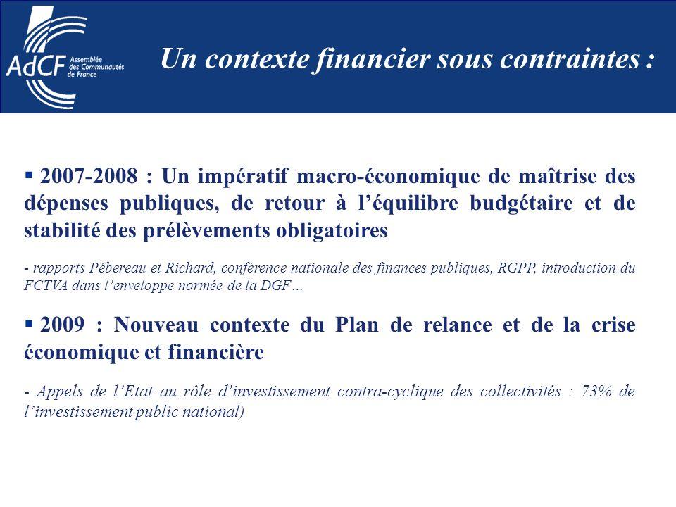 2007-2008 : Un impératif macro-économique de maîtrise des dépenses publiques, de retour à léquilibre budgétaire et de stabilité des prélèvements oblig