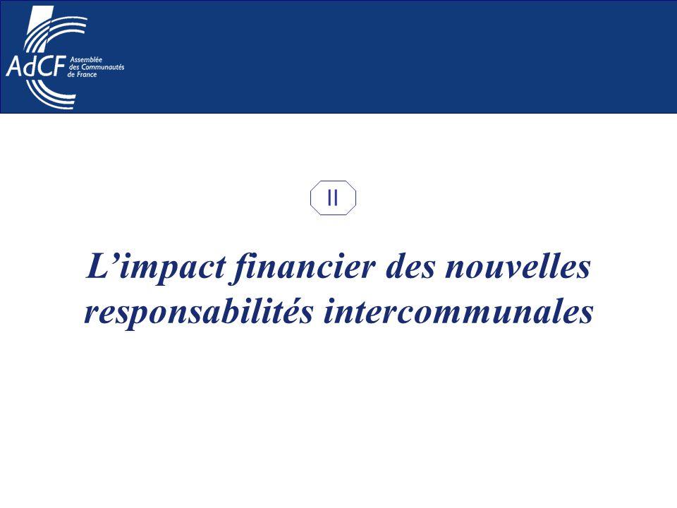 Limpact financier des nouvelles responsabilités intercommunales II