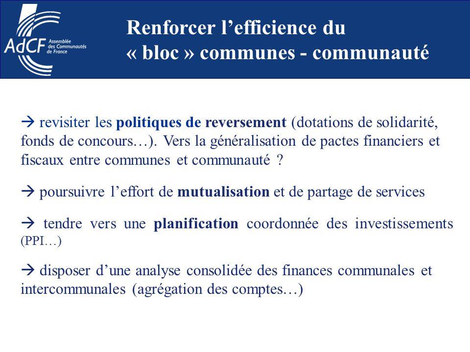revisiter les politiques de reversement (dotations de solidarité, fonds de concours…). Vers la généralisation de pactes financiers et fiscaux entre co