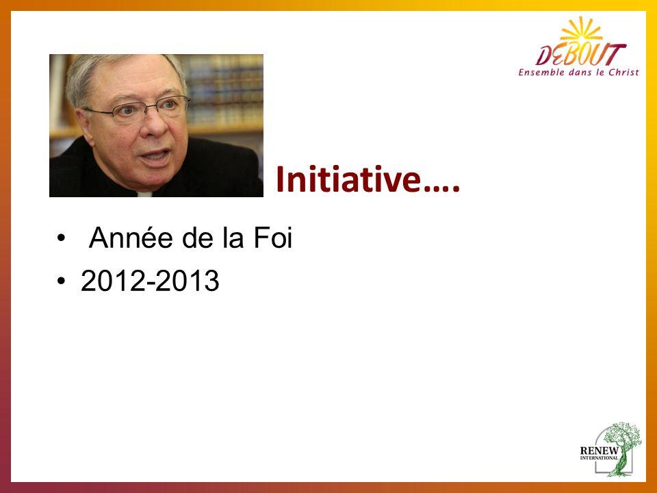 Année de la Foi 2012-2013 Initiative….
