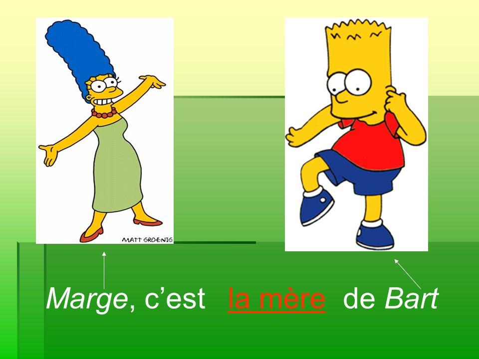 Marge, cest de Bartla mère