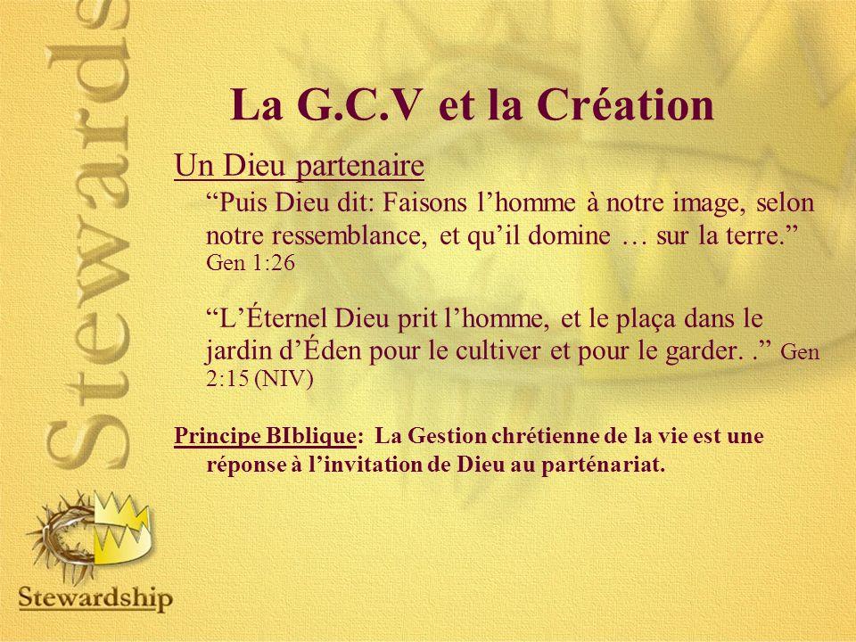 Un Dieu partenaire Puis Dieu dit: Faisons lhomme à notre image, selon notre ressemblance, et quil domine … sur la terre.