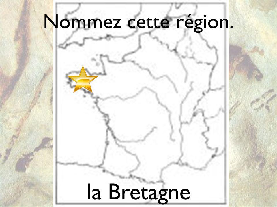 un dolmen Nommez cette région. la Bretagne