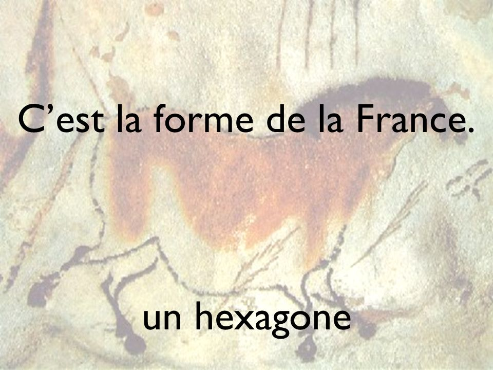 Cest la forme de la France. un hexagone