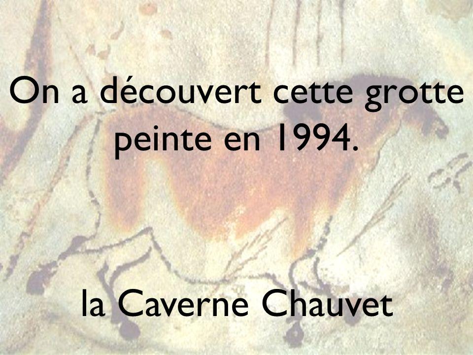 On a découvert cette grotte peinte en 1994. la Caverne Chauvet