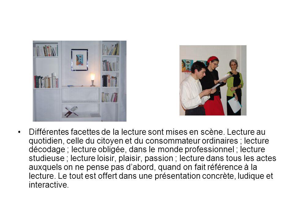 Lexposition Habiter la lecture a été conçue et réalisée par lassociation Habitons la lecture.