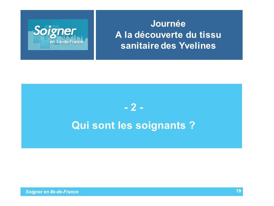 Soigner en Ile-de-France Journée A la découverte du tissu sanitaire des Yvelines -- 2 - -Qui sont les soignants ? 19