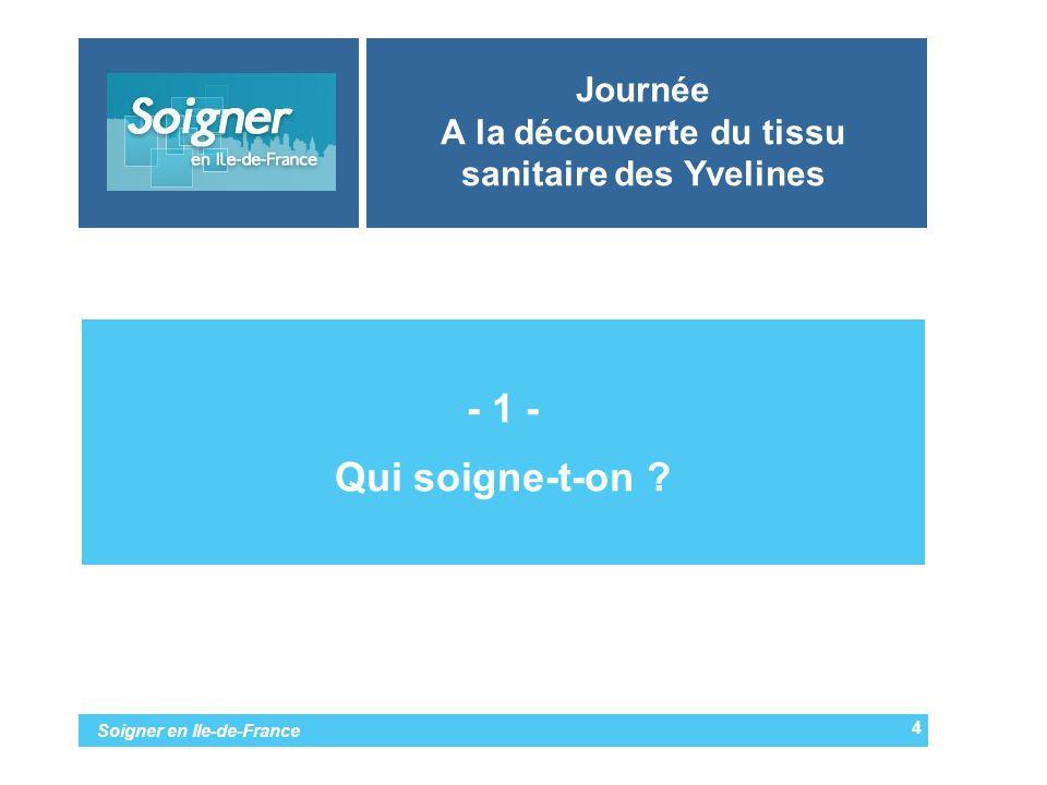 Soigner en Ile-de-France Journée A la découverte du tissu sanitaire des Yvelines - 1 - Qui soigne-t-on ? 4