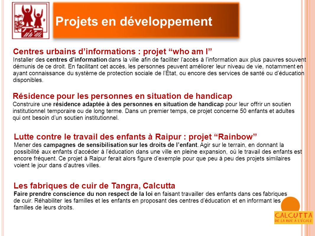 Centres urbains dinformations : projet who am I Installer des centres dinformation dans la ville afin de faciliter laccès à linformation aux plus pauv