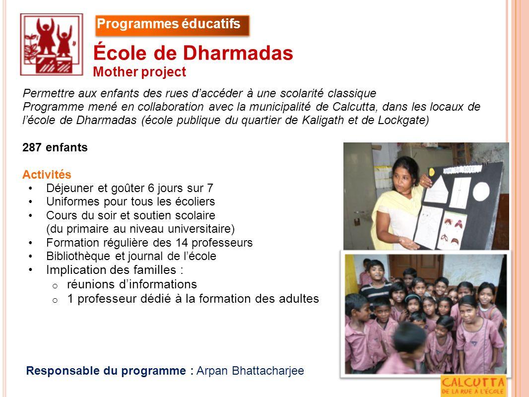 in sertion professionnelle Responsable du programme Chiranjib Samanta Educateur Lipi Banerjee Insertion professionnelle à Calcutta Uttaran Kolkata Programmes dinsertion profesionnelle