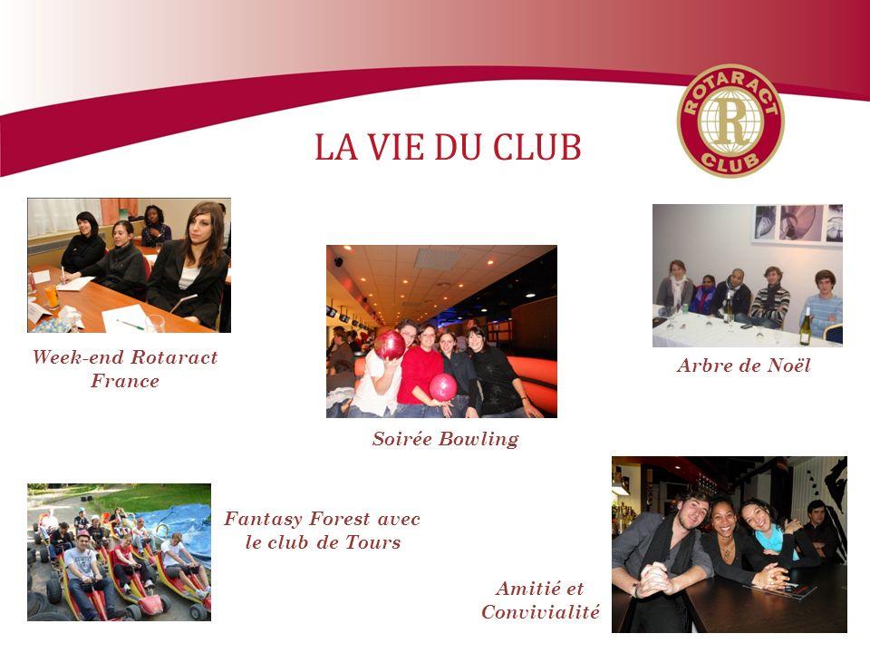 LA VIE DU CLUB Amitié et Convivialité Soirée Bowling Arbre de Noël Week-end Rotaract France Fantasy Forest avec le club de Tours