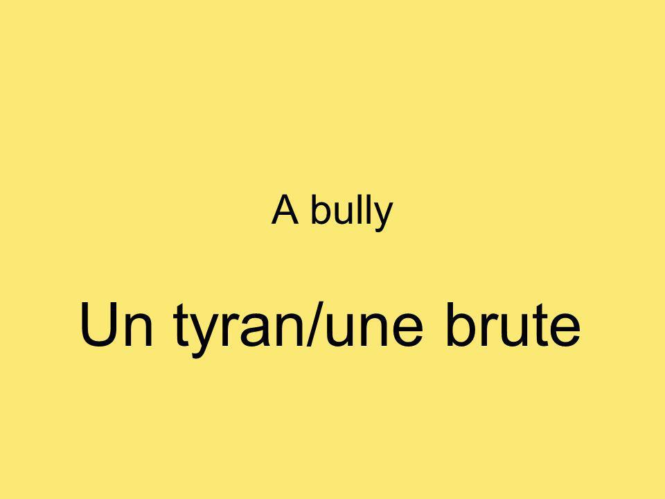 A bully Un tyran/une brute