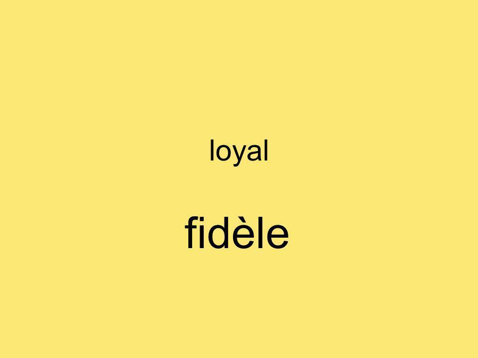 loyal fidèle