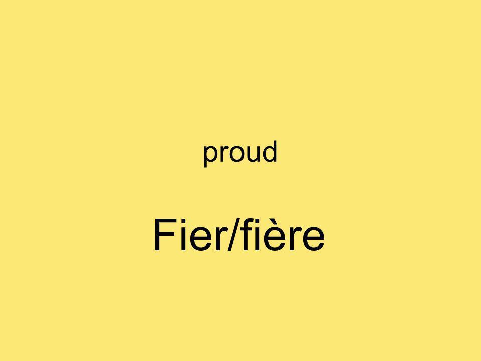 proud Fier/fière