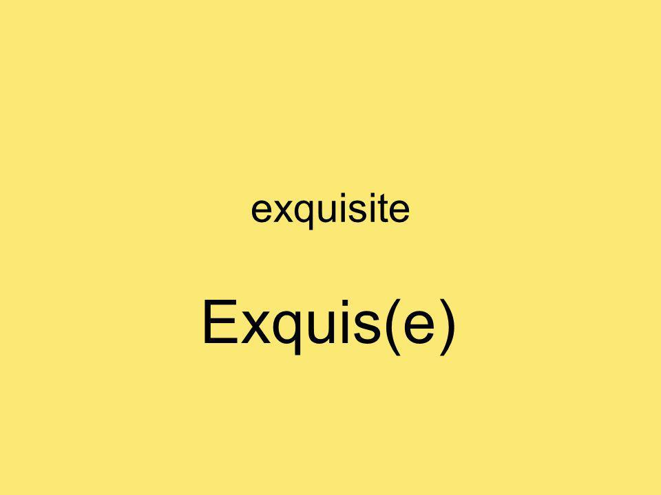 exquisite Exquis(e)
