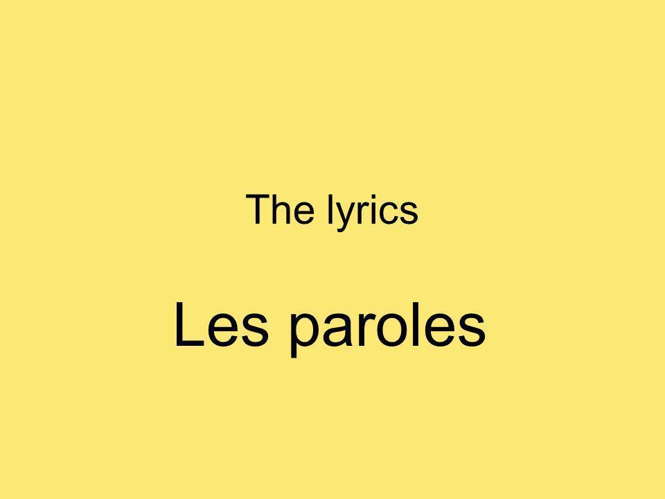 The lyrics Les paroles