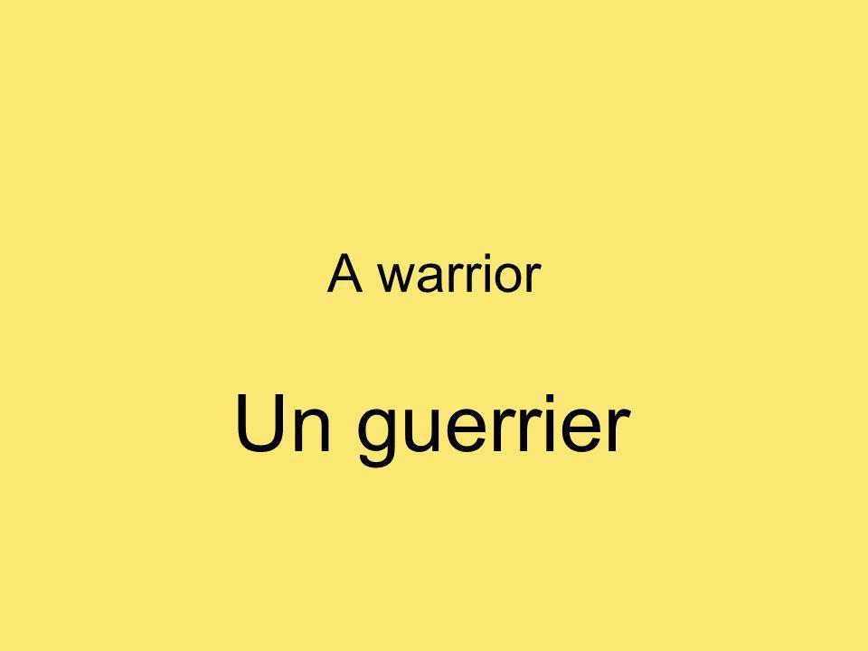 A warrior Un guerrier
