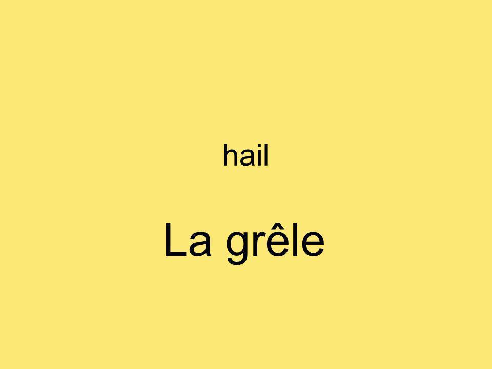 hail La grêle