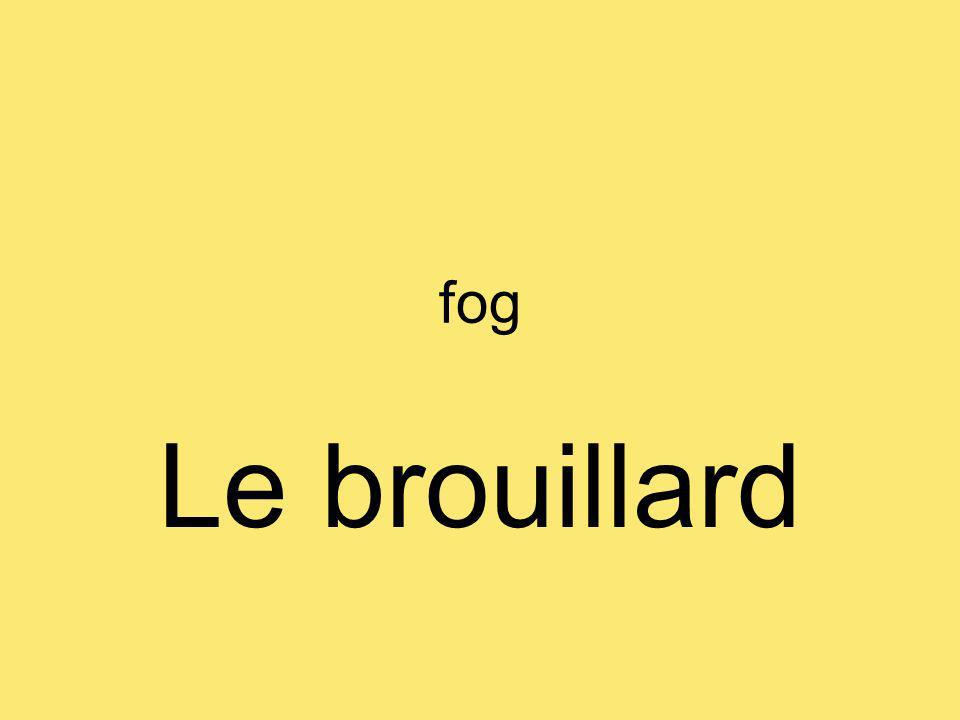 fog Le brouillard