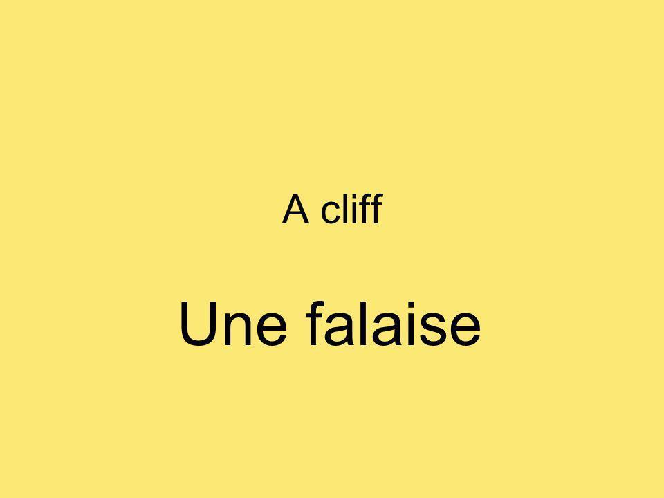 A cliff Une falaise