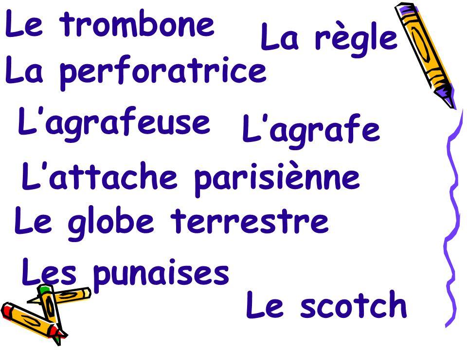 Le stylo Le pinceau La gomme Le taille-crayon Le porte - stylos Les cahiers Les livres Les bristols Les feutres Les ciseaux