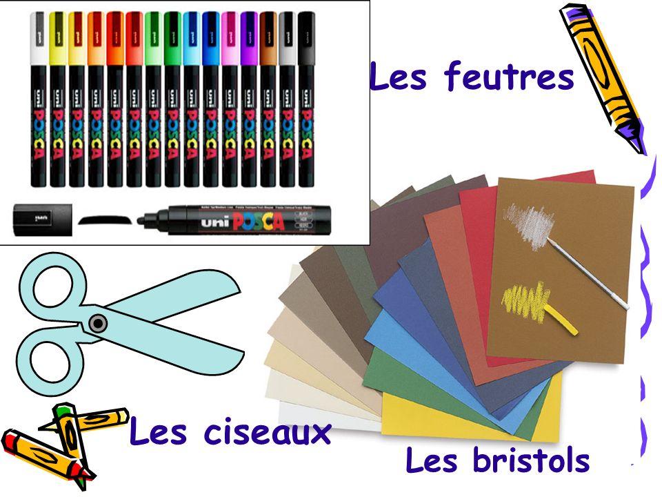 Le stylo Le pinceau La gomme Le taille-crayon