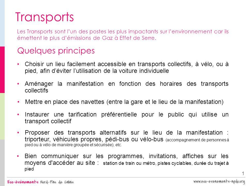 Transports 1 Les Transports sont lun des postes les plus impactants sur lenvironnement car ils émettent le plus démissions de Gaz à Effet de Serre. Qu