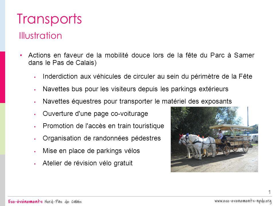 Transports 1 Illustration Actions en faveur de la mobilité douce lors de la fête du Parc à Samer dans le Pas de Calais) Inderdiction aux véhicules de