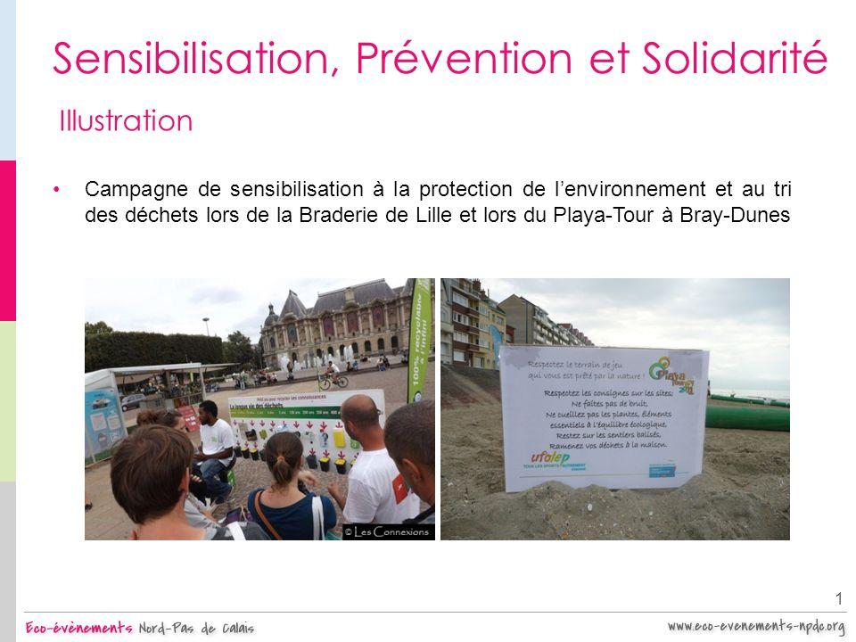 Sensibilisation, Prévention et Solidarité 1 Illustration Campagne de sensibilisation à la protection de lenvironnement et au tri des déchets lors de l