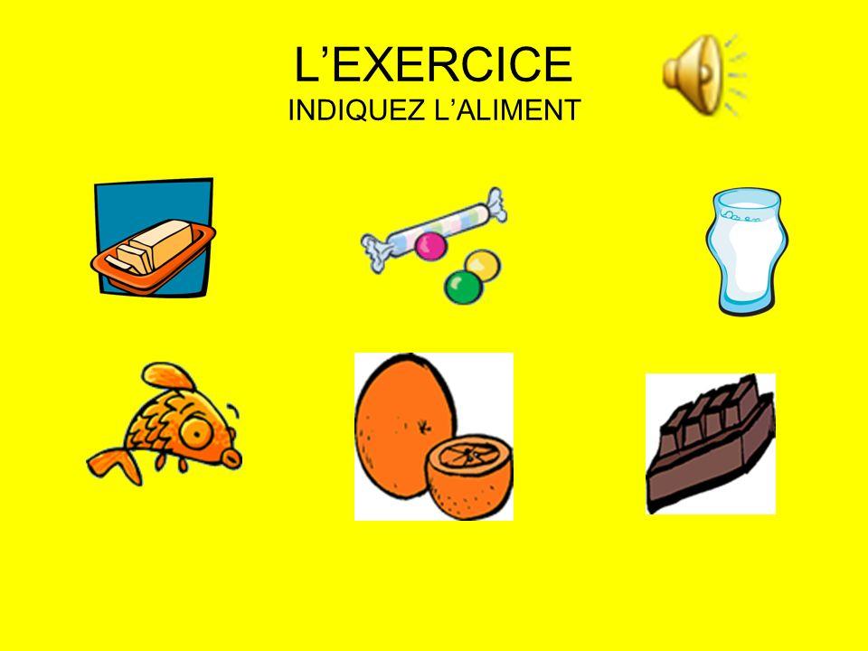 LEXERCICE INDIQUEZ LALIMENT