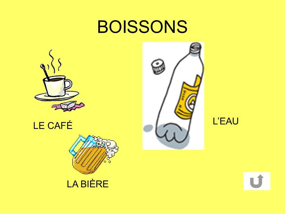 BOISSONS LE CAFÉ LEAU LA BIÈRE