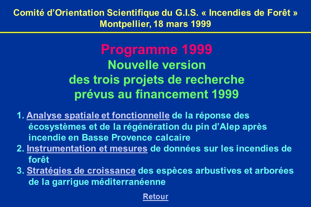 Comité dOrientation Scientifique du G.I.S.