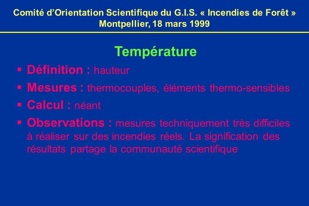 Comité dOrientation Scientifique du G.I.S.