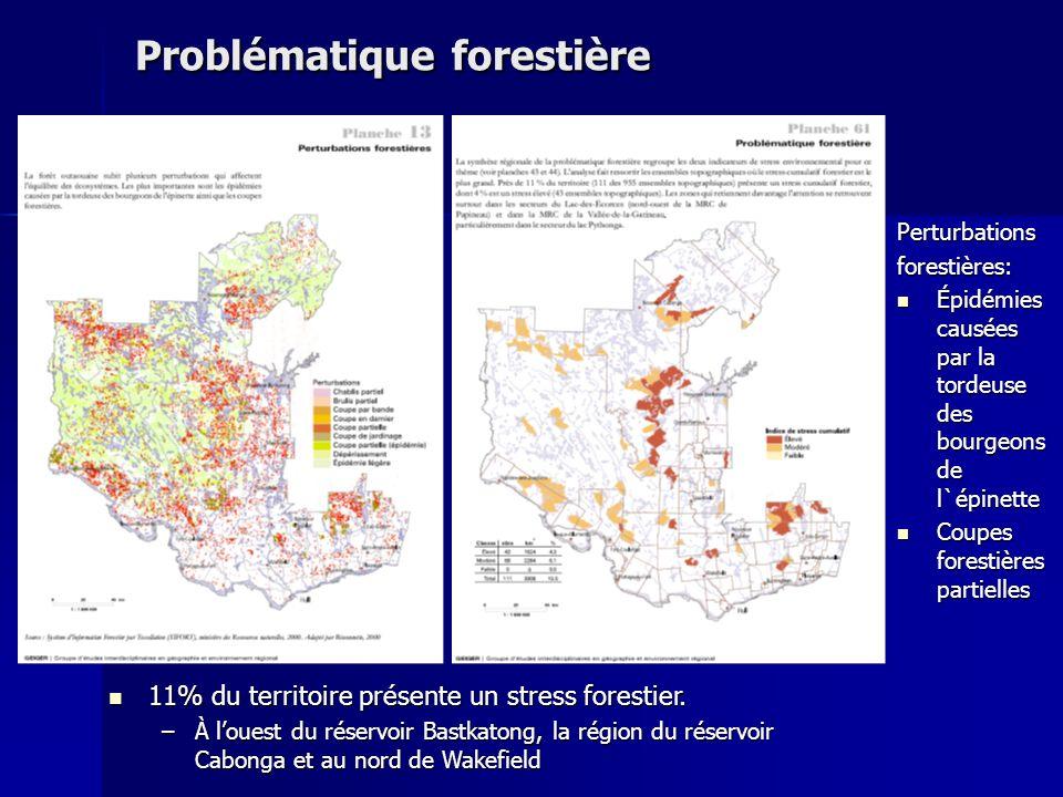 Problématique forestière Perturbationsforestières: Épidémies causées par la tordeuse des bourgeons de l`épinette Épidémies causées par la tordeuse des